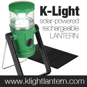 K-Light Solar Lantern & Flashlight