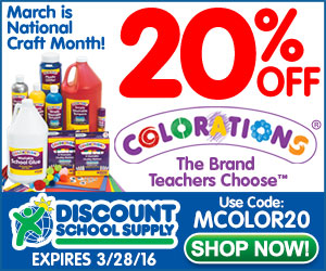 EXTENDED! National Craft Month Sale - Save 20% Off Colorations Products + Get Free Shipping!