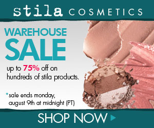 stila warehouse sale!
