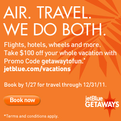 $100 off any vacation package book by 1/27