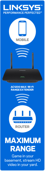 NEW Linksys RE6500 Wireless AC Range Extender 160x600