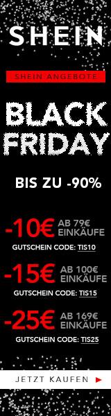 160x600 Schwarzer Freitag! Sparen Sie £ 25 von Ihren Bestellungen £ 169 + bei Shein.com Endet 26/11