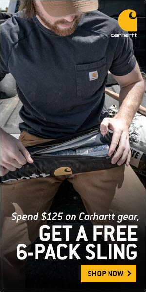 Spend $125 & Get a 6-pack beverage sling from Carhartt. Use code SLING at checkout.