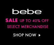 Shop The Big Savings Going on at Bebe Now. Up to 40% Off!