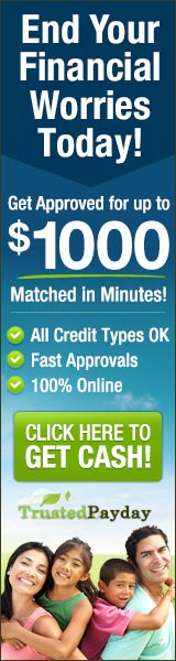 TrustedPayday.com: End Your Financial Worries Today! Get Approved for up to $1000 as Soon as Today!