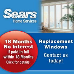 Exterior home window installation by Sears Home Se