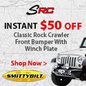 Total savings of $150 when you purchase SRC Classic JK bumper with instant $50 rebate.