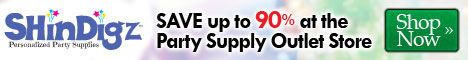 Save Up 90% On ShindigZ Outlet Party Products