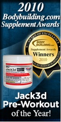 USPlabs Jack3d 2010 Pre Workout Supplement of the