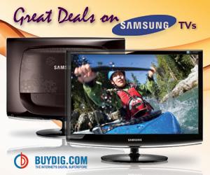 Great Deals on Samsung TVs @ BuyDig.com!