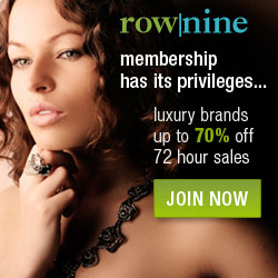 Save up to 80% on Luxury Brands at RowNine