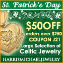 Get $50 off your $250 Order for St. Patrick's Day
