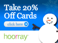 Hoorray Cards 20% off offer