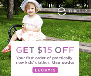 $15 off your first order of practically new kids' clothes!