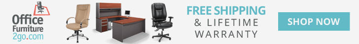 Free Shipping w/ OfficeFurniture2Go.com - 728x90