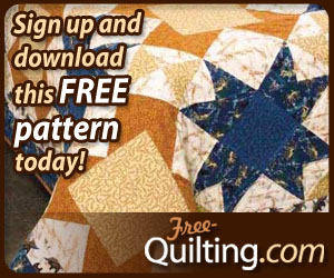 Earth and Sky Free Bed Quilt Pattern