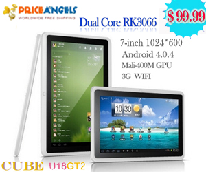 Cube U18GT2 8GB RK3066 ARM Cortex A9 Dual Core 1GB DDR3 Android 4.0.4 Tablet PC with 7