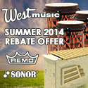 West Music Summer Remo& Sonor Rebate