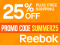 Reebok Summer Sale 25% Off + Free Shipping
