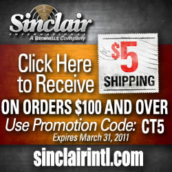 $5 Shipping on Orders Over $100 @ SinclairIntl.com