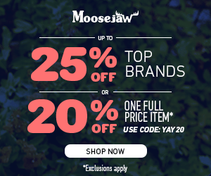 Up to 25% off Almost Everything & 20% off one Full price item with code YAY20