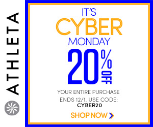 Starting 12/1: It's Cyber Monday - 20% off everything online & in stores at Athleta.