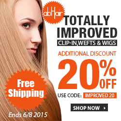 20% off +FS on improved clip-ins, wefts and wigs! Use code IMPROVED20.