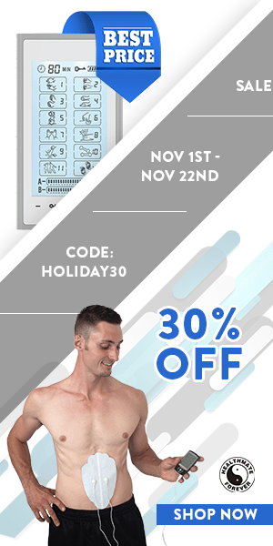 Best Price Now with 30% OFF Our Premium TENS Units! Use Coupon Code: HOLIDAY30 at checkout!