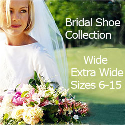 Buy gorgeous wedding shoes in wide sizes.