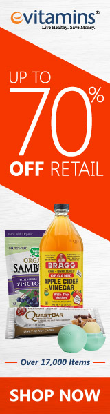 Save everyday at eVitamins