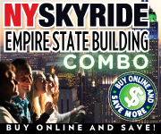 Empire State Building New York and New York Skyride tickets
