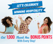 Get 1,000 bonus points with every stay!