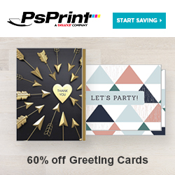 Save up to 60% on Greeting Cards from PsPrint!