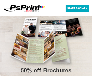 Save 50% off brochures from PsPrint!