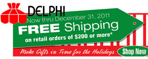 Free Shipping from Delphi Glass