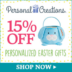 15% off Personalized Easter Gifts from Personal Creations - 250 x 250