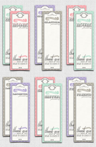 Free Mother's Day printable bookmarks