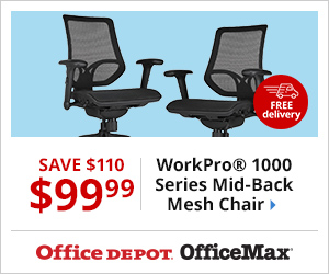 (Sun-Tues) Furniture Event! Including WorkPro 1000 Chair - Only $99.99, Save $110 PLUS Free Delivery