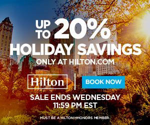 Hilton Flash Sale Nov 2016 banner