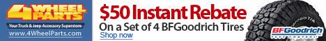 $50 Instant Rebate on BFG Tires