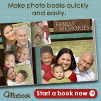 Make a family photo book quickly and easily