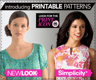 Printable sewing patterns at Simplicity.com