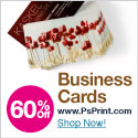 Save up to 60% on business cards from PsPrint!