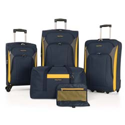 -Nautica Open Seas 5 Piece Expandable Spinner Luggage Set Now Only $129.97 Org. $400.00 Plus Free Shipping. Use Promo Code OPEN-