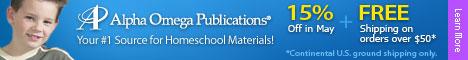 AOP! Your #1 Source For Homeschool Materials!