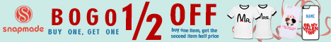 Snapmade 2015 - Valentine's Day Buy 1 Get 1 Deals - 468*60