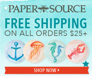 Free Shipping on any orders over $25 at Paper Source