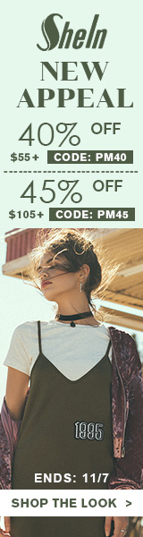 Enjoy 45% off orders $105+ with Coupon Code PM45 at us.SheIn.com! Ends 11/7 (US Only)