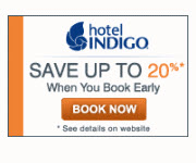 SAVE up to 20% at Hotel Indigo when you Book Early