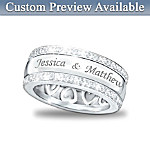 Forever Love 12-Diamond Spinning Band Personalized Ring